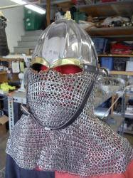 Fluted Rus Helm with stainless Chain Drape